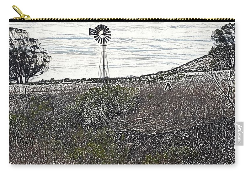 Windmill Carry-all Pouch featuring the photograph Windmill by Michael Brown