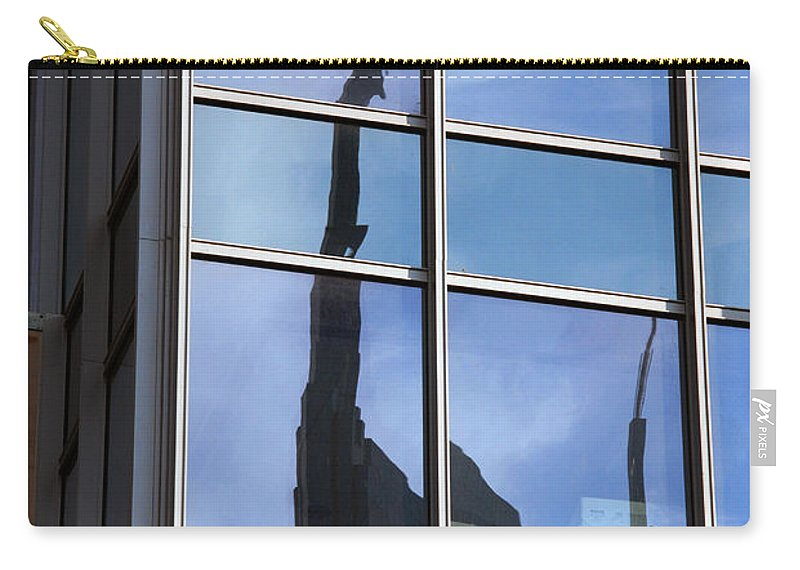 Nashville Carry-all Pouch featuring the photograph Window Reflections by Susanne Van Hulst