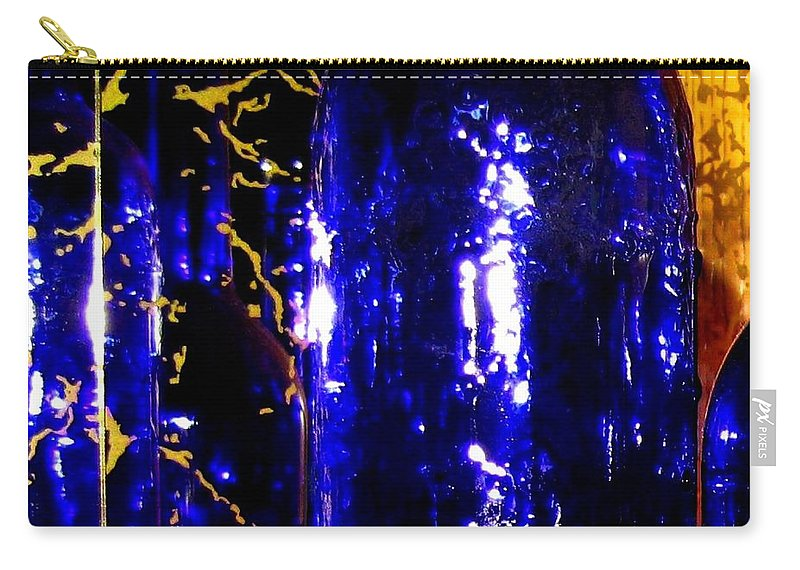 Wine Bottles Carry-all Pouch featuring the digital art Wine Bottles 1 by Will Borden