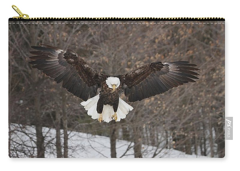 Bald Eagle Carry-all Pouch featuring the photograph Wings Of Wonder by Teresa McGill
