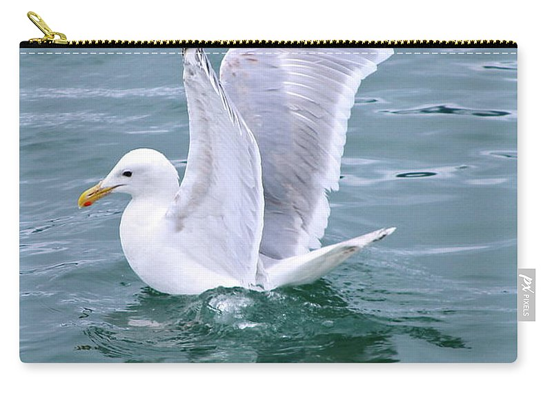 Gull Carry-all Pouch featuring the photograph Wings by Rick Monyahan