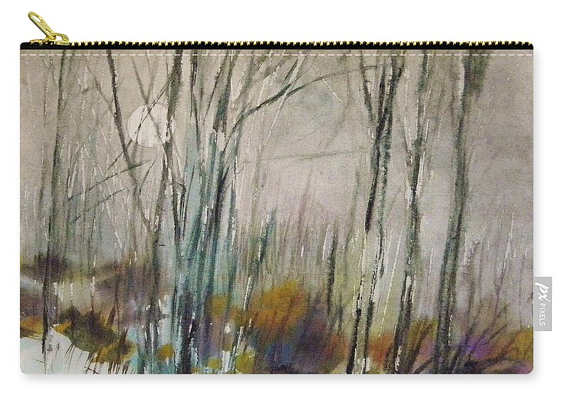 Winter Afternoon Carry-all Pouch featuring the painting Winter Afternoon by John Williams