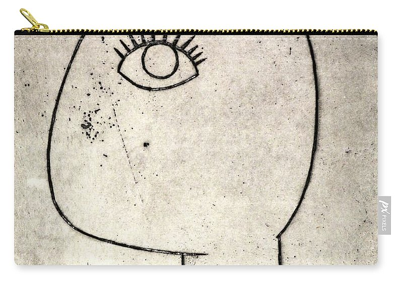 Clay Carry-all Pouch featuring the painting Woman by Thomas Valentine