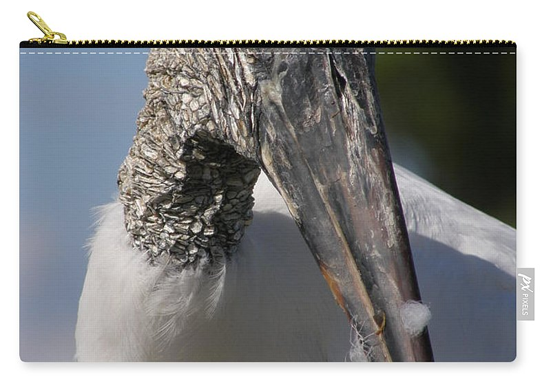Bird Carry-all Pouch featuring the photograph Wood Stork by Kimberly Mohlenhoff