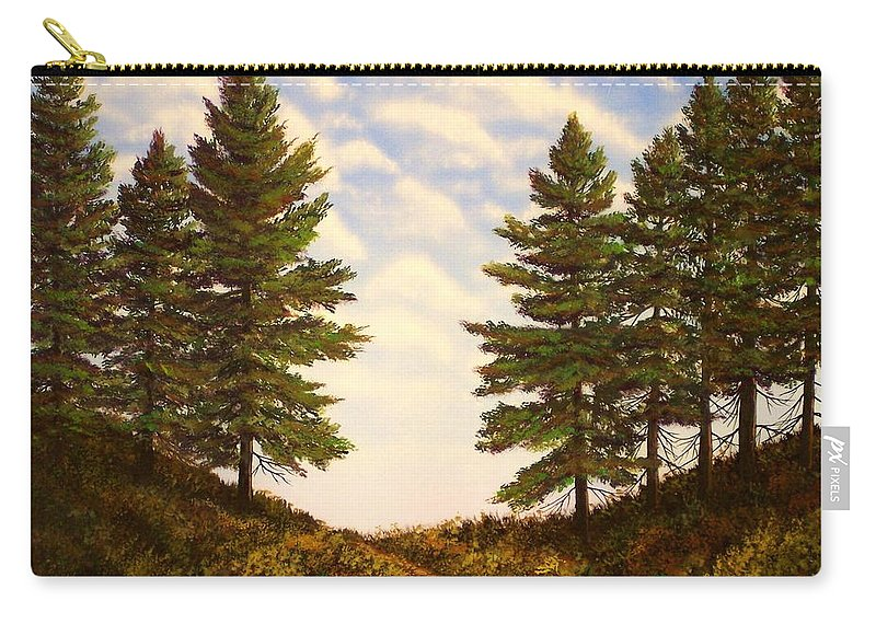 Wooded Path Carry-all Pouch featuring the painting Wooded Path by Frank Wilson
