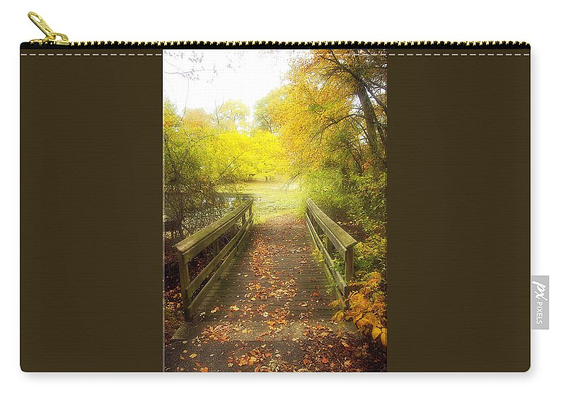 Bridge Carry-all Pouch featuring the photograph Wooden Bridge by Brian Wallace