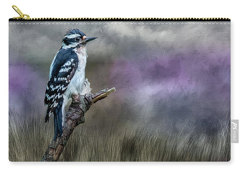 Bird Carry-all Pouch featuring the photograph Woody by Cathy Kovarik
