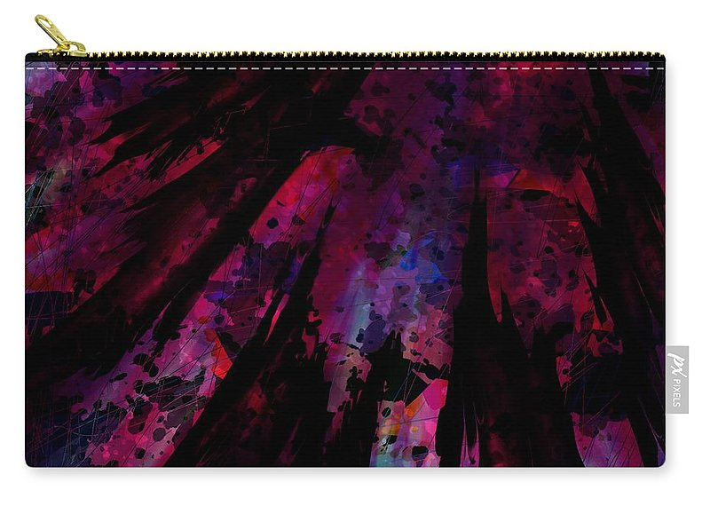 Abstract Carry-all Pouch featuring the digital art Words With A Red Wing by Rachel Christine Nowicki