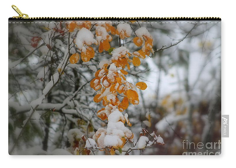 Winter Carry-all Pouch featuring the photograph Yellow Leaves by Leone Lund
