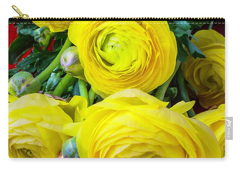 Yellow Carry-all Pouch featuring the photograph Yellow Ranunculus by Garry Gay