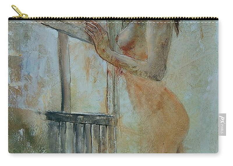 Gir Carry-all Pouch featuring the painting Young Girl 57905062 by Pol Ledent