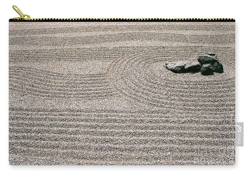 Zen Carry-all Pouch featuring the photograph Zen Garden by Dean Triolo