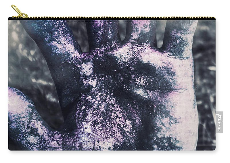 Book Cover Carry-all Pouch featuring the photograph Zombie Rising From A Shallow Grave by Jorgo Photography - Wall Art Gallery