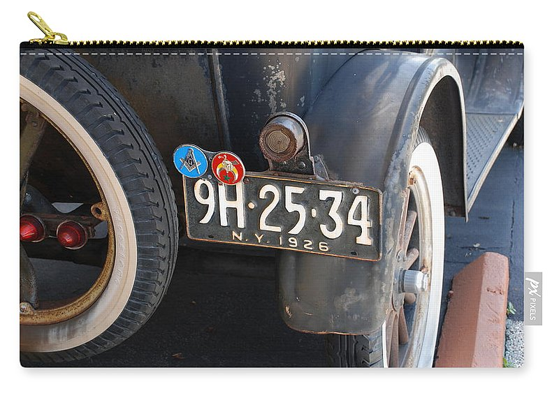 Numbers Carry-all Pouch featuring the photograph 1926 Model T Ford by Rob Hans