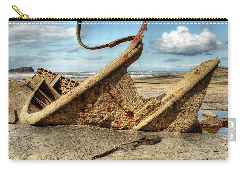 Admiral Von Tromp Carry-all Pouch featuring the photograph Admiral Von Tromp At Black Nab by Sarah Couzens