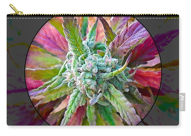 Cannabis Carry-all Pouch featuring the mixed media Cannabis 420 Collection by Marvin Blaine