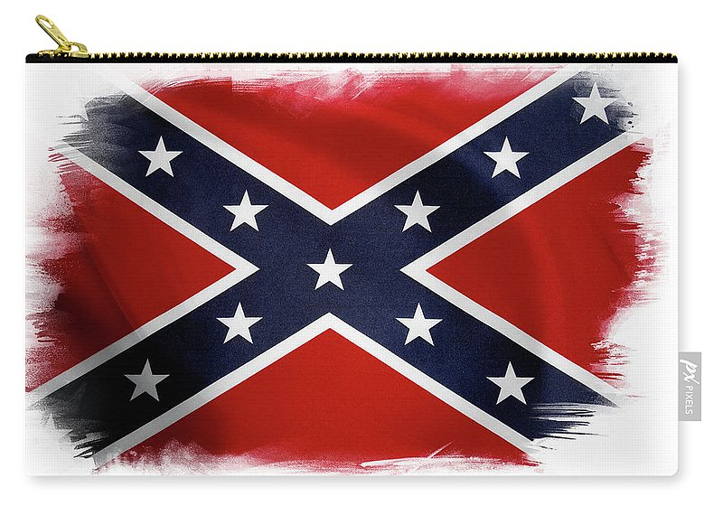 Confederate Flag Carry-all Pouch featuring the photograph Confederate Flag 10 by Les Cunliffe