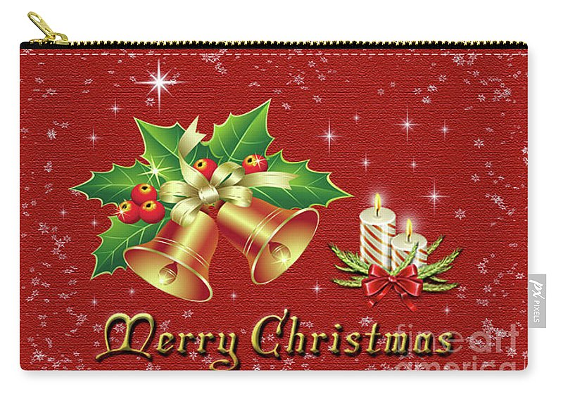 Christmas Carry-all Pouch featuring the photograph Christmas Card 9 by Nina Ficur Feenan