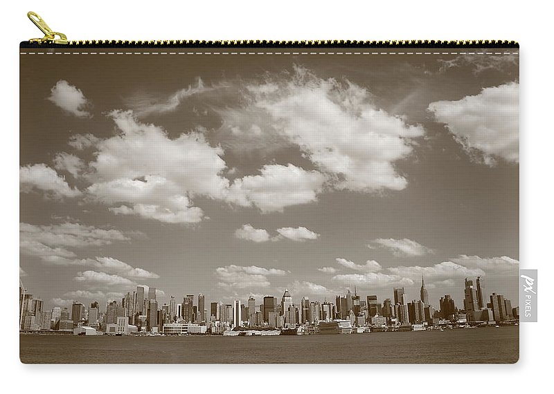 America Carry-all Pouch featuring the photograph New York City Skyline by Frank Romeo