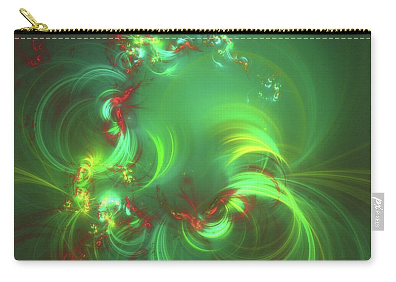 Pattern Carry-all Pouch featuring the digital art Patterns Of Life By Rt by Esoterica Art Agency