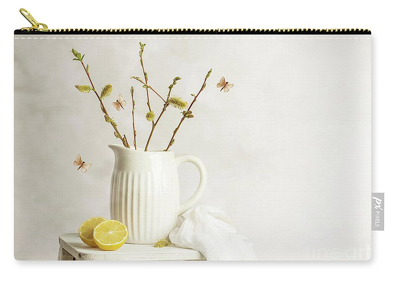 Pretty Carry-all Pouch featuring the photograph Spring Still Life by Amanda Elwell
