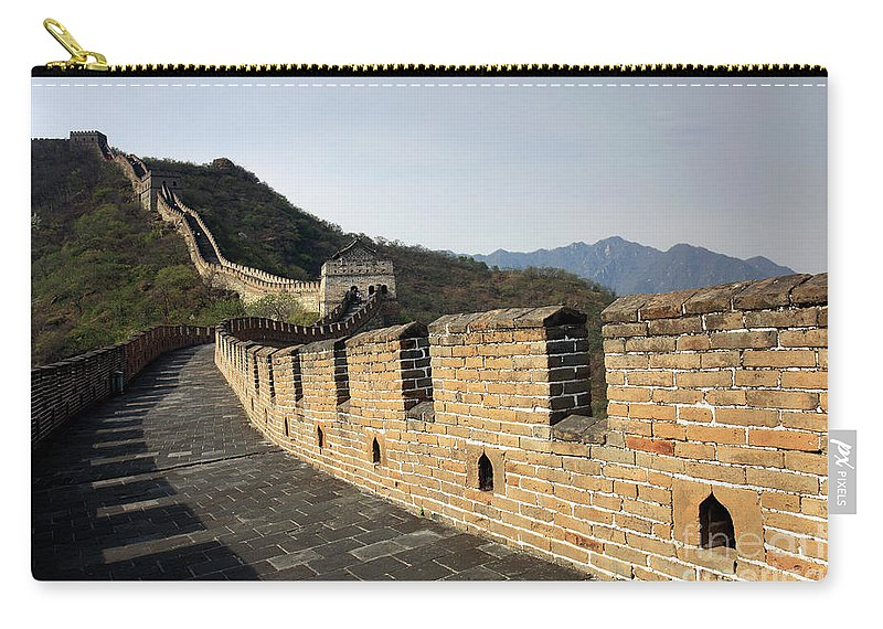 Mutianyu Valley Carry-all Pouch featuring the photograph The Mutianyu Section Of The Great Wall Of China, Mutianyu Valley by Dave Porter