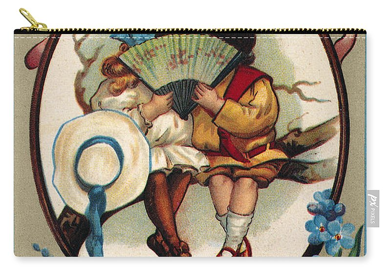 1909 Carry-all Pouch featuring the photograph Valentines Day Card by Granger