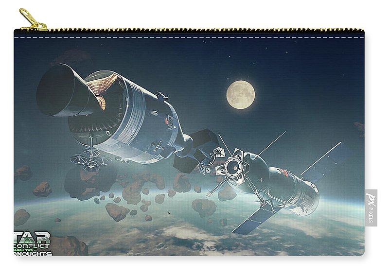 Video Game Carry-all Pouch featuring the digital art Video Game by Maye Loeser