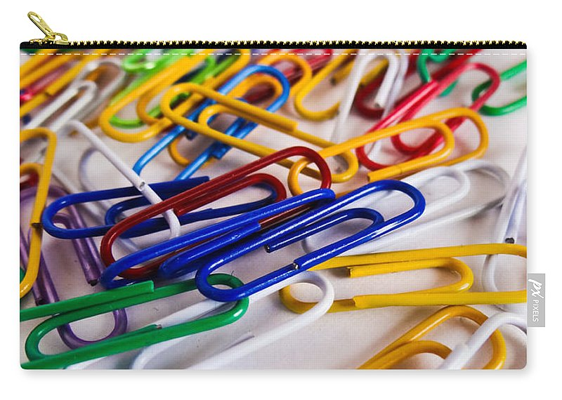 One Hundred Carry-all Pouch featuring the photograph 100 Paperclips by Julia Wilcox