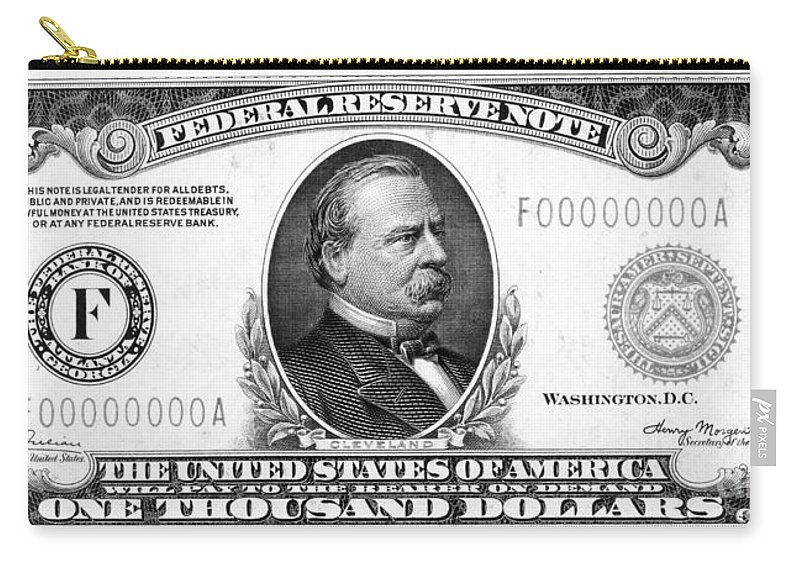 1000 Carry-all Pouch featuring the photograph 1,000 Dollar Bill by Granger