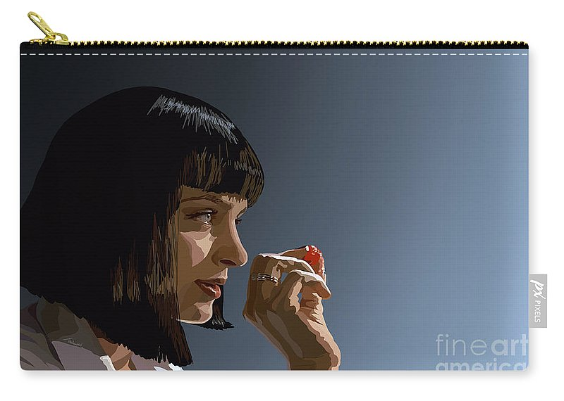 Pulp Fiction Carry-all Pouch featuring the digital art 104. Whatever I Wanted by Tam Hazlewood