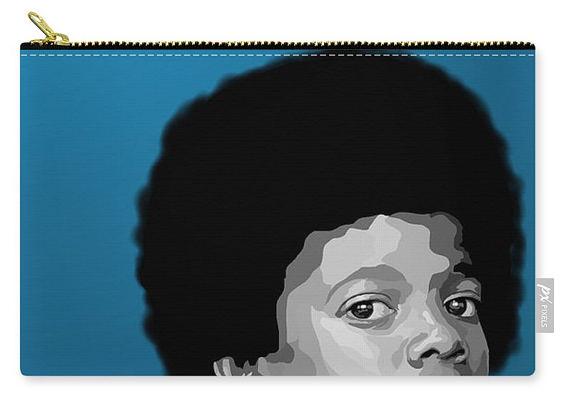 Micheal Jackson Carry-all Pouch featuring the digital art 108. Easy As 123 by Tam Hazlewood