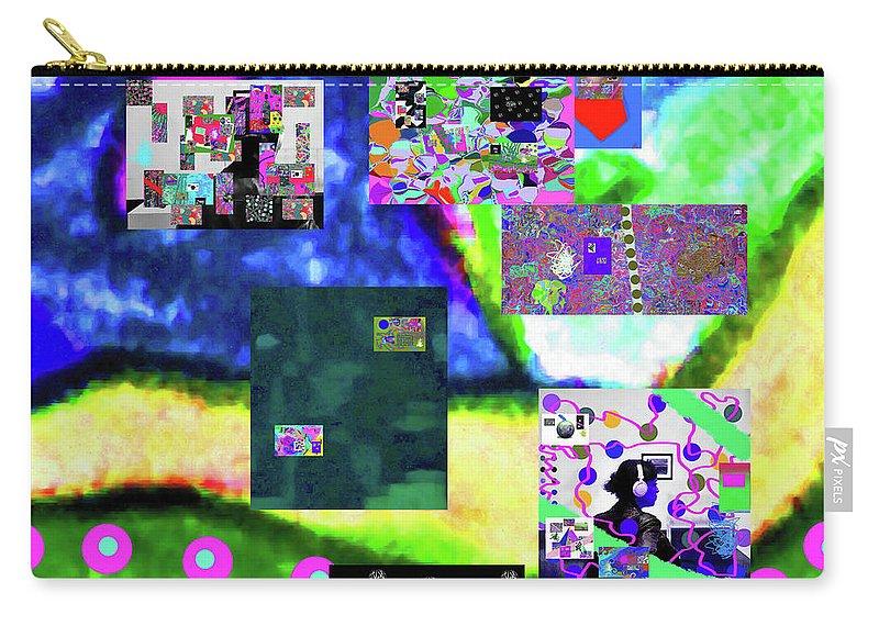 Walter Paul Bebirian Carry-all Pouch featuring the digital art 11-11-2015abcdefghijklmnopqrtuvwxyzabcdef by Walter Paul Bebirian