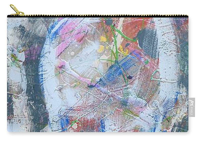 Modern Carry-all Pouch featuring the painting Challenge 2017 Save Europe Www.gracedivine.com by Grace Divine
