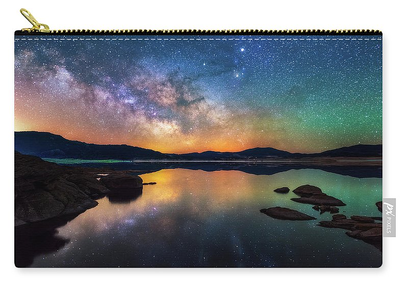 Milky Way Carry-all Pouch featuring the photograph 11 Mile Nights by Darren White