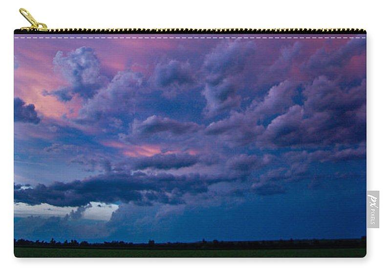 Nebraskasc Carry-all Pouch featuring the photograph Nebraska Hp Supercell Sunset by NebraskaSC