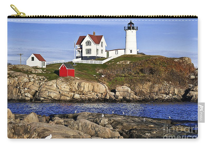 Cape Neddick Carry-all Pouch featuring the photograph Nubble Lighthouse by John Greim