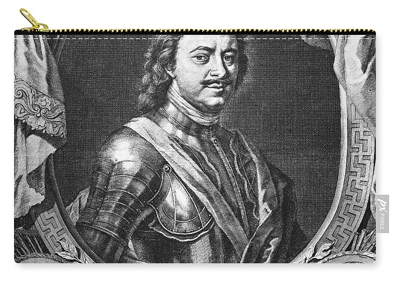 18th Century Carry-all Pouch featuring the photograph Peter I (1672-1725) by Granger