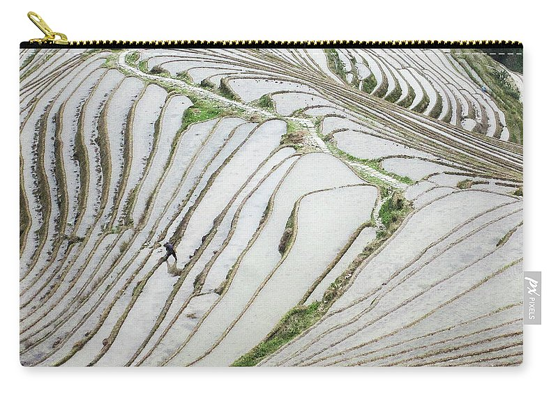 Scene Carry-all Pouch featuring the photograph Terrace Fields Scenery In Spring by Carl Ning