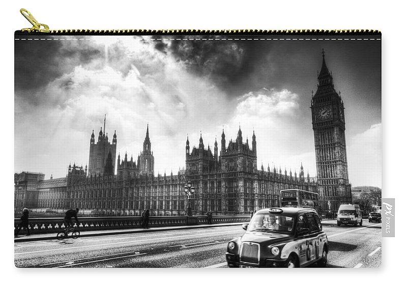 Westminster Carry-all Pouch featuring the photograph Westminster Bridge London by David Pyatt