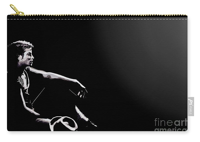 Micheal Jackson Carry-all Pouch featuring the digital art 110. Just Leave Me Alone by Tam Hazlewood