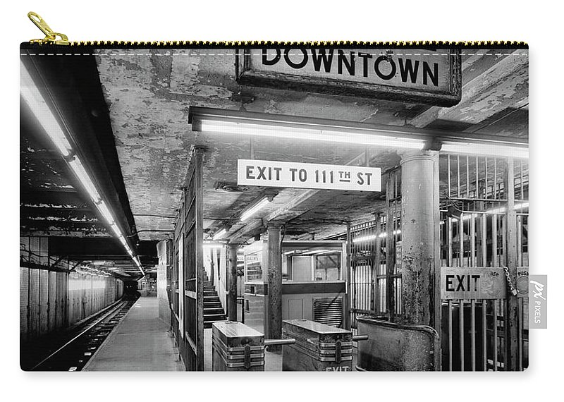 Irt Carry-all Pouch featuring the photograph 110th Street And Lenox Avenue Station - New York City by Daniel Hagerman