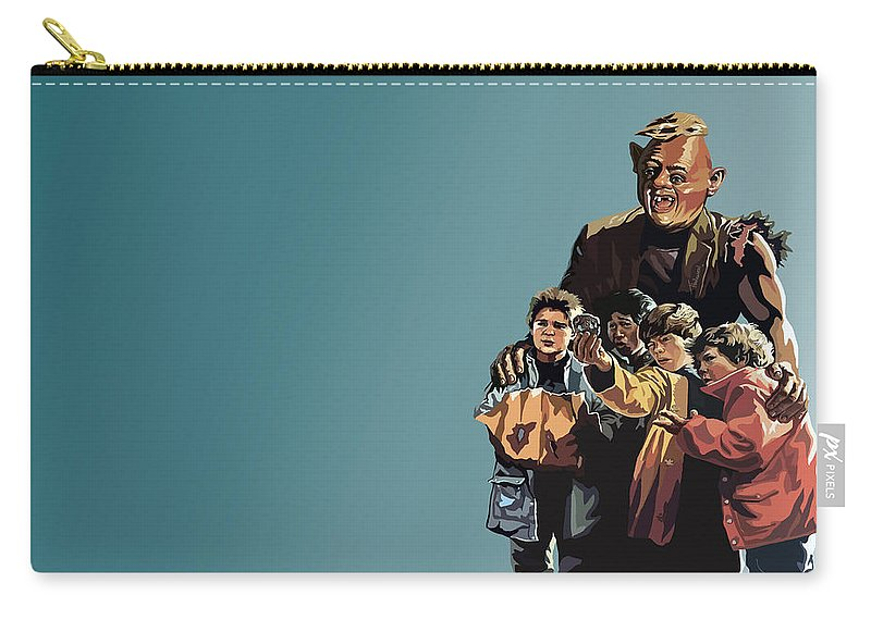 The Goonies Carry-all Pouch featuring the digital art 112. Never Say Die by Tam Hazlewood