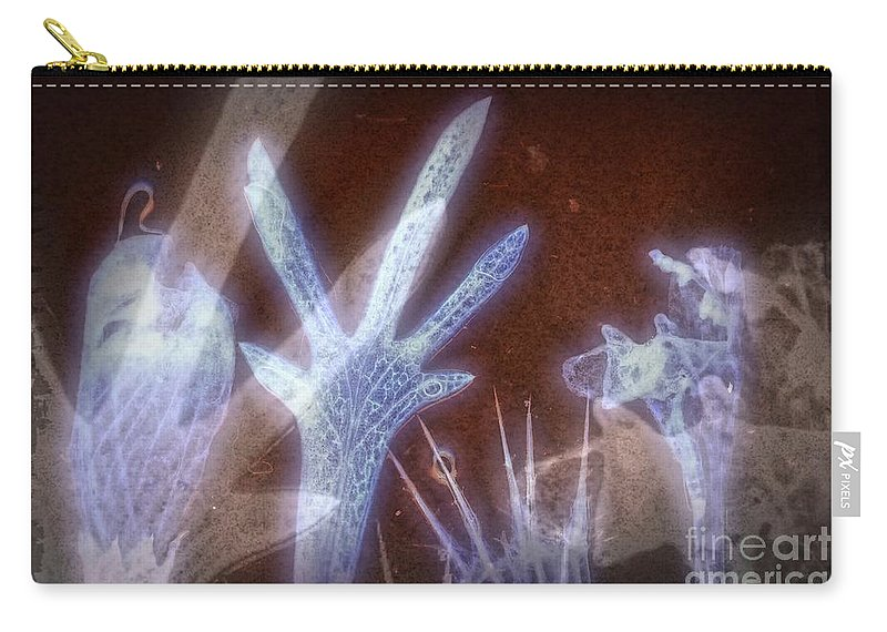 Ghost Carry-all Pouch featuring the digital art 11288 Ghost Of Lost Souls Series 07-01 by Colin Hunt