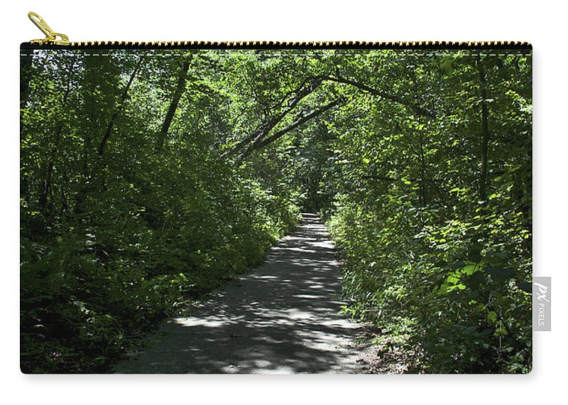 Harbor Country Carry-all Pouch featuring the photograph 1174, Forest Path by David Lange