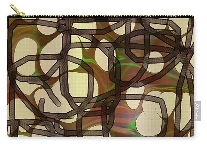 Abstract Art Carry-all Pouch featuring the digital art 1197exp3 by Ron Bissett