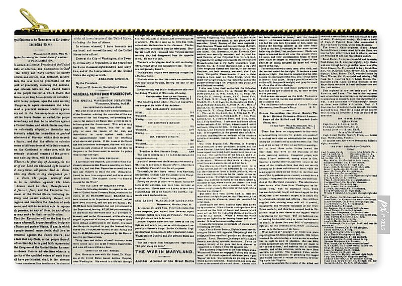 1862 Carry-all Pouch featuring the photograph Emancipation Proclamation by Granger