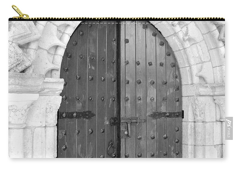 Wooden Doors Carry-all Pouch featuring the photograph Miami Monastery by Rob Hans