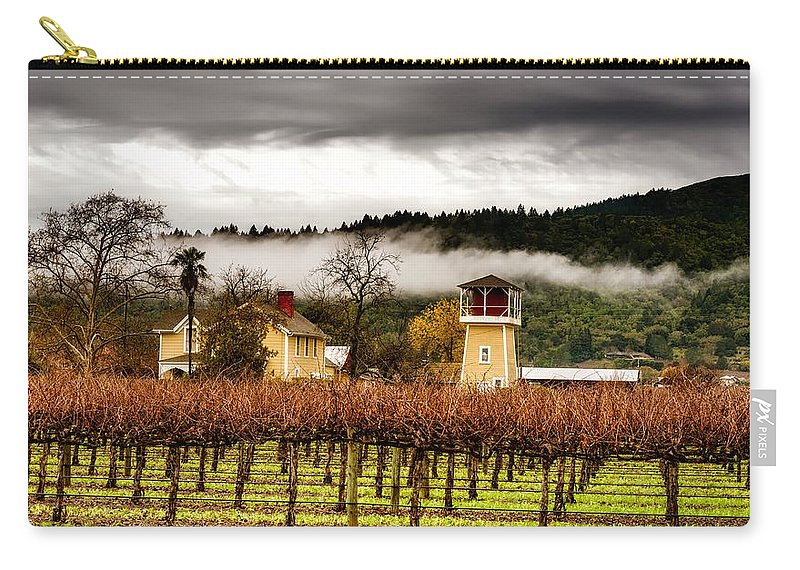 Napa Valley Carry-all Pouch featuring the photograph Napa Valley Vineyard by Mountain Dreams