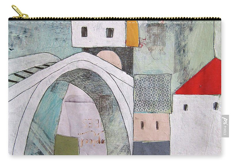 Carry-all Pouch featuring the painting Stari Most, Mostar by Emir Kevelj